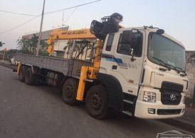 Cho thuê xe tải Hyundai HD250 gắn cẩu Kanglim 12 tấn giá rẻ